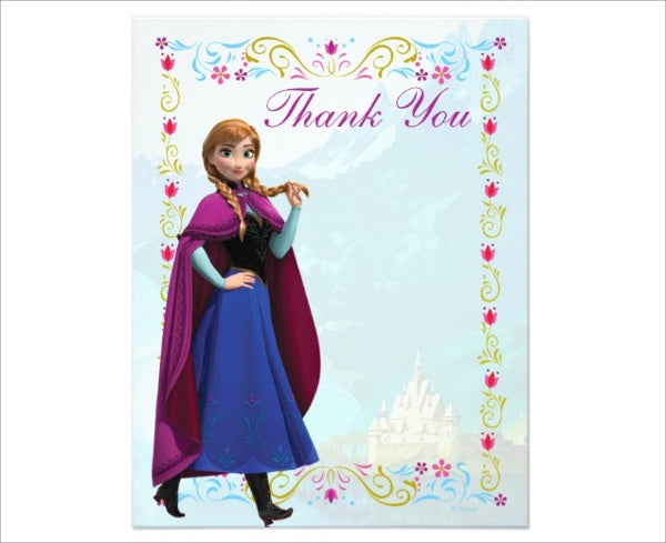 disney frozen thank you card1