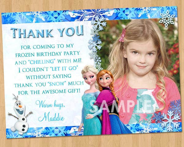 frozen photo thank you card2
