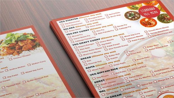 catering services menu design