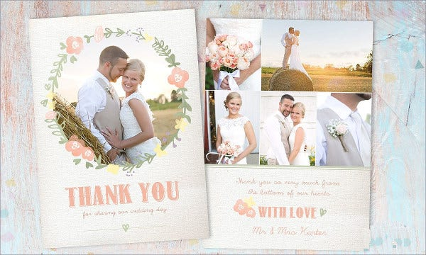 wedding photo thank you card3