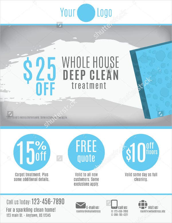 cleaning business flyer sample2