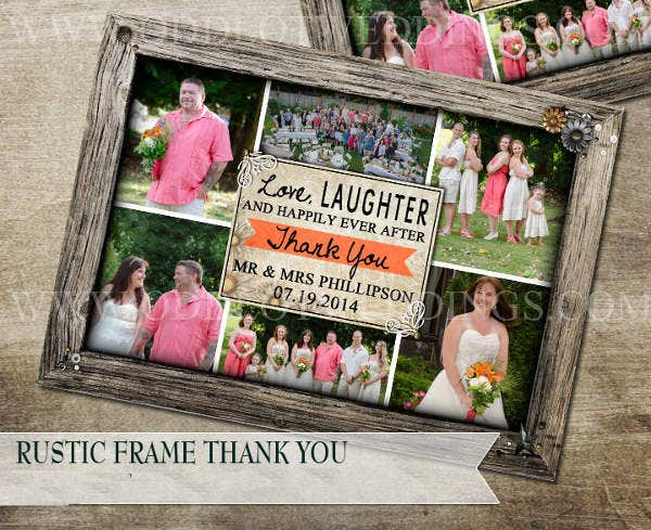 photo frame thank you card