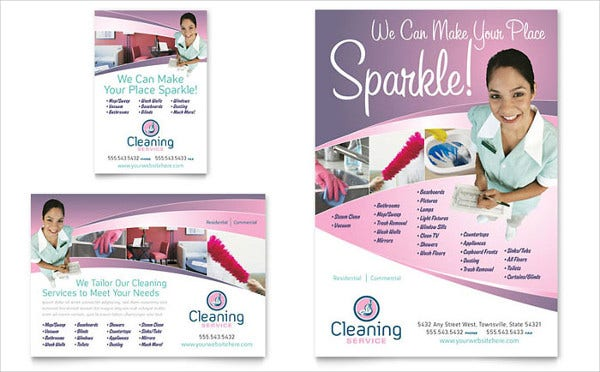 cleaning business flyer design5