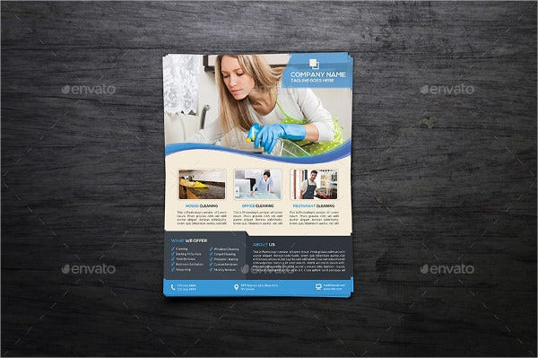 professional and cleaning business flyer1