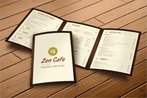 cafe menu graphic design