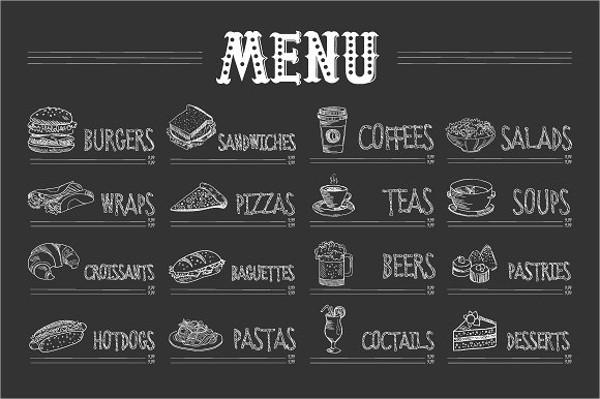 creative pizza menu design