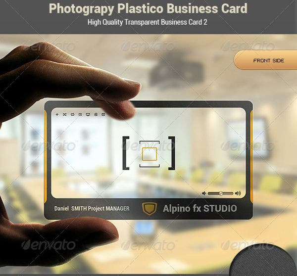 Photography Plastic Business Card