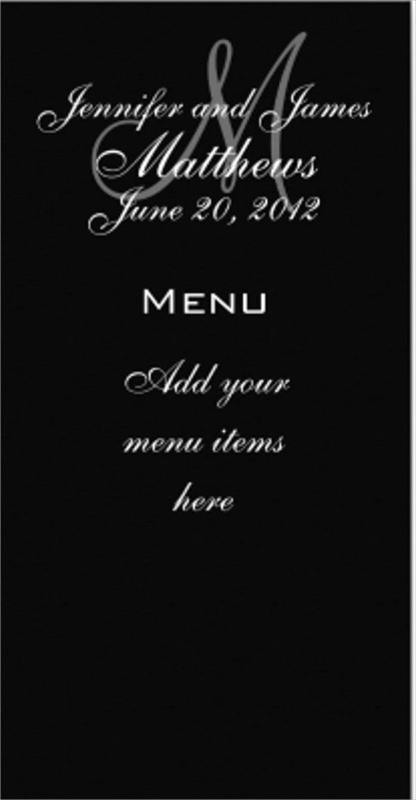 43 Wedding Menu Samples Free Premium Templates