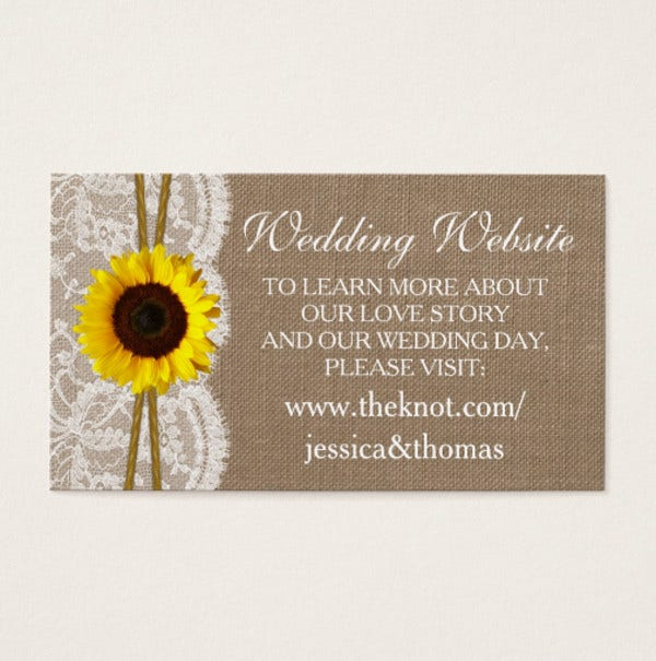 Rustic Wedding Business Card