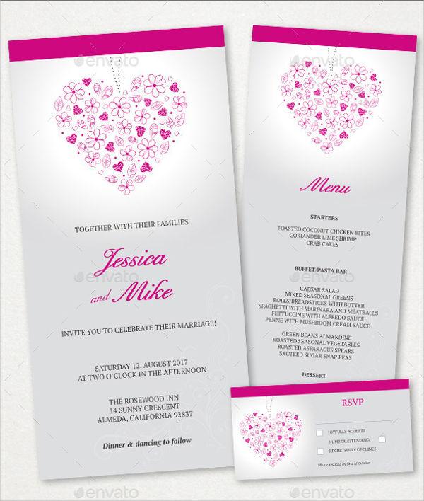 43 Wedding Menu Samples Free Premium Templates
