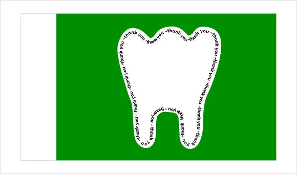thank you dentist card