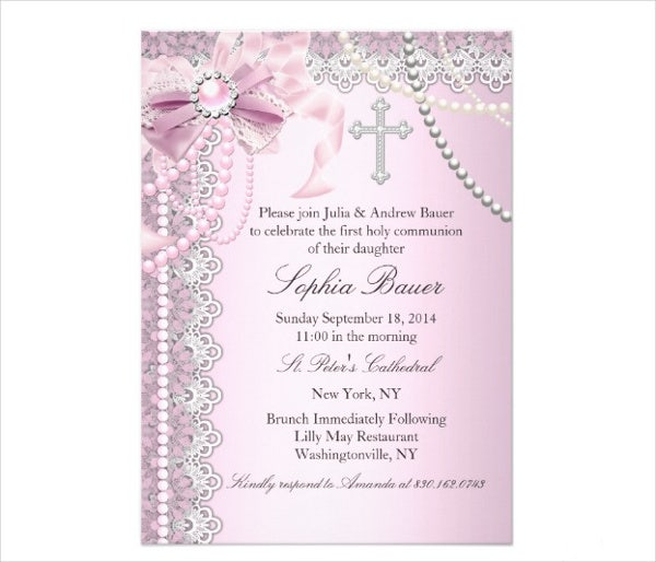 invitation baptisim card