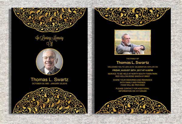 funeral ceremony invitation card