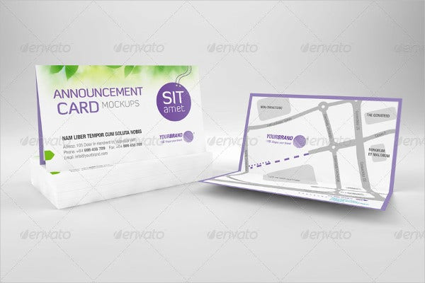Business card designs free premium templates business relocation announcement card accmission