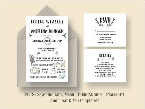 Wedding Invitation Card Sample: AI, PSD, Google Docs, Apple