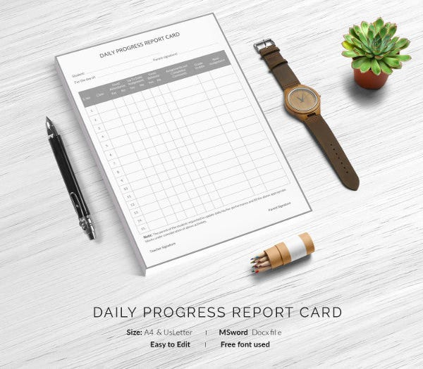 daily-progress-report-card