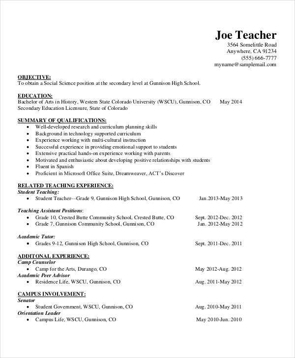 school teacher resume format1