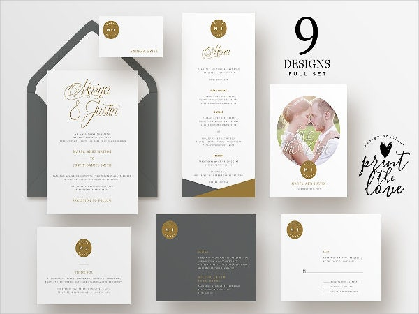 wedding buffet menu card2
