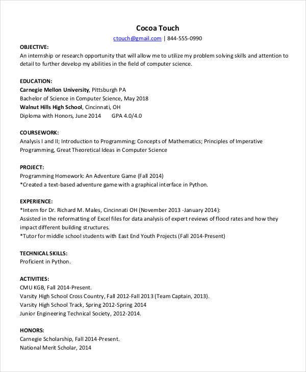 fresher computer teacher resume2