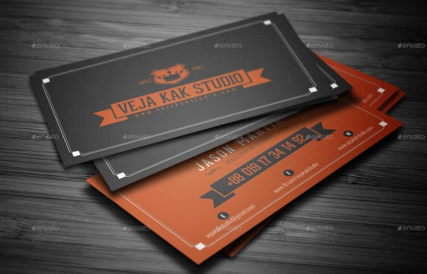 70 psd business cards free psd eps vector ai jpg format retro vintage business card flashek Choice Image