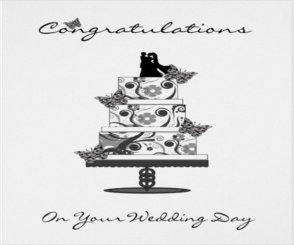 special wedding greeting card