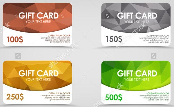 Business Model Gift Card