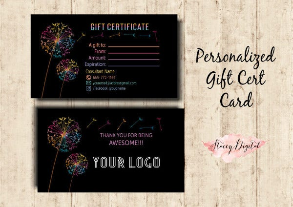 Business Gift Certificates Card