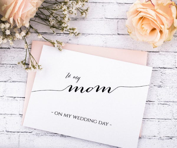 note for wedding card