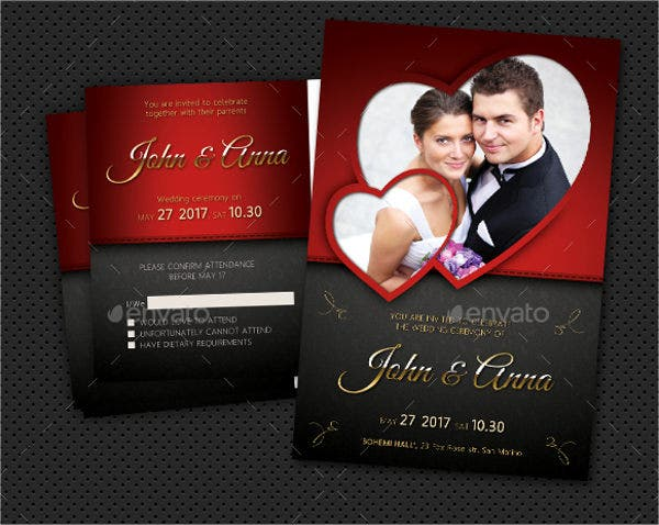 wedding invitations photo card