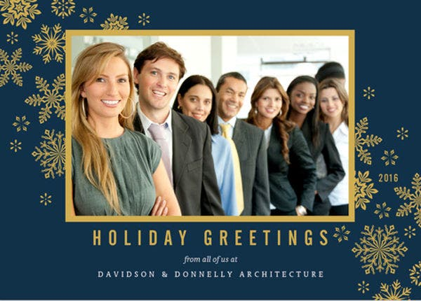 Holiday Business Photo Card