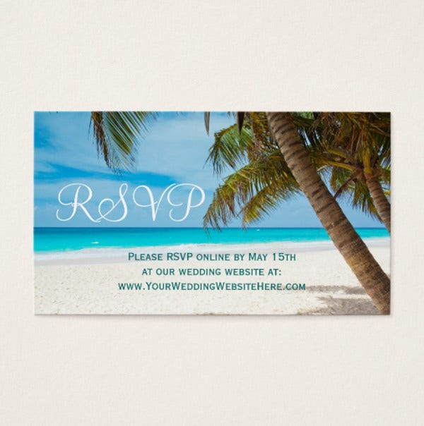 Beach Wedding Business Card