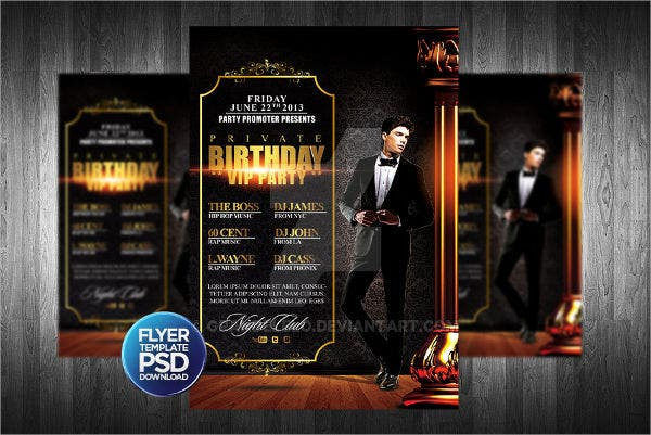 club-birthday-flyer-template