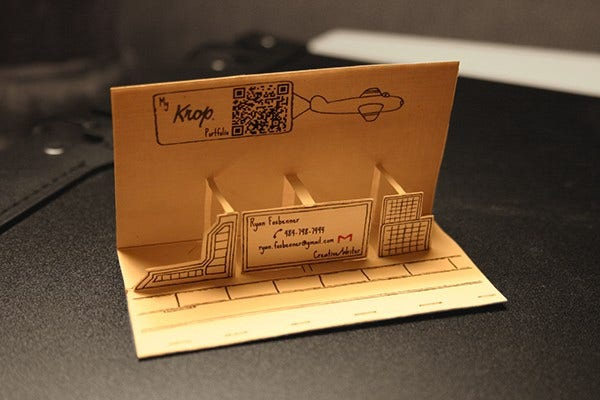 pop up 3d business card - 3 D Business Card