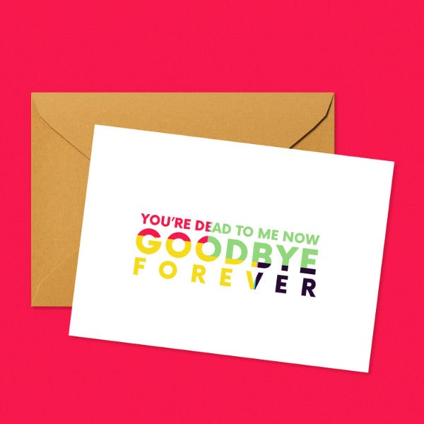 Business Farewell Greeting Card