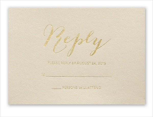 email wedding response card
