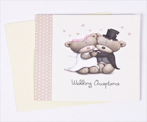 disney wedding acceptance card