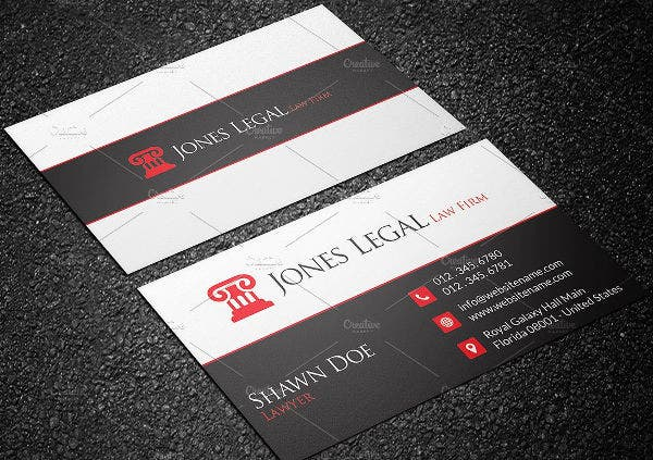 Professional Legal Business Card