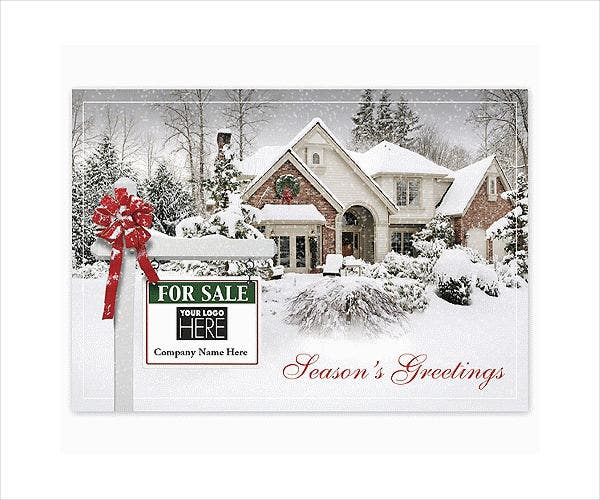 Real Estate Business Holiday Card