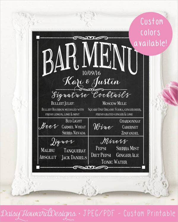 chalkboard-retro-outdoor-wedding-bar-menu