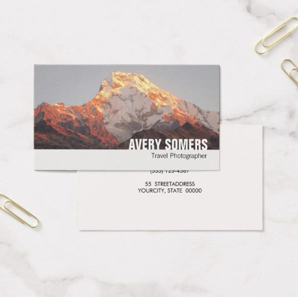 Travel Photographer Business Card