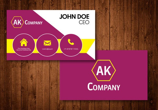 Travel Business Card Vector