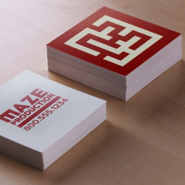 Diy Square Business Card