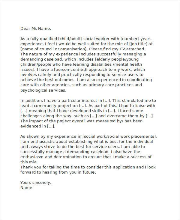 professional social work resume
