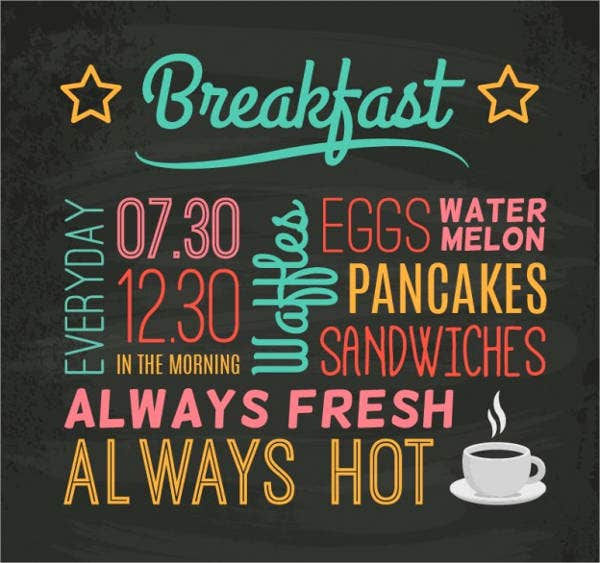 39  chalkboard menu designs