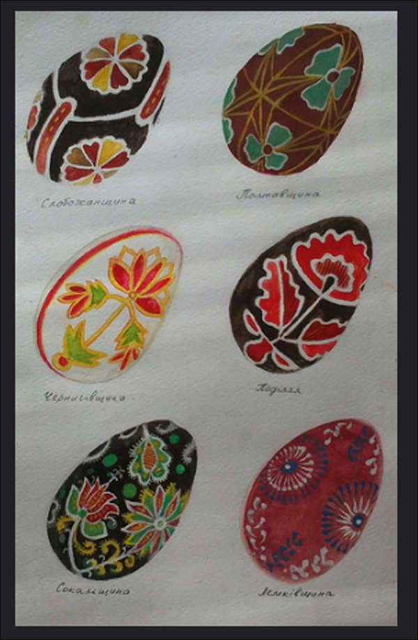 floral easter egg drawing