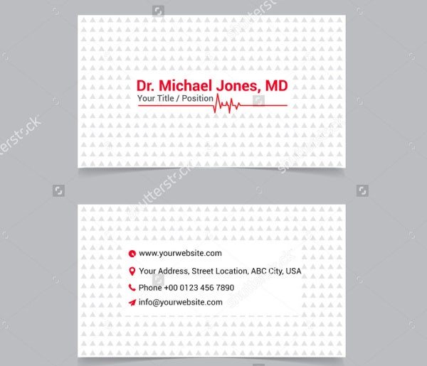 doctor visiting card