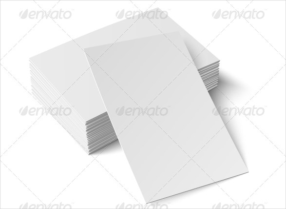 business blank card