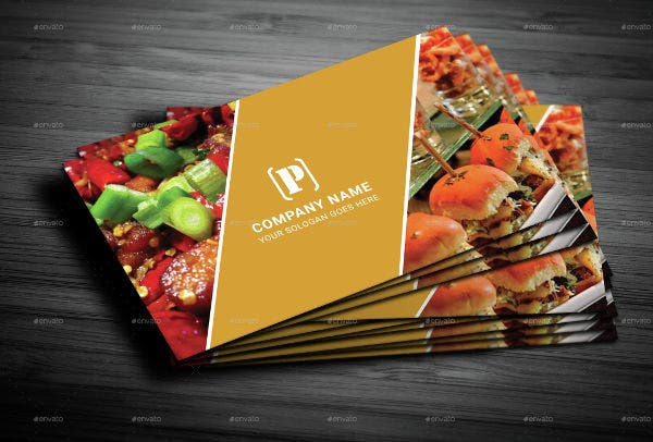 restaurant consulting business card