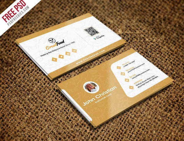 -Restaurant Equipment Business Card