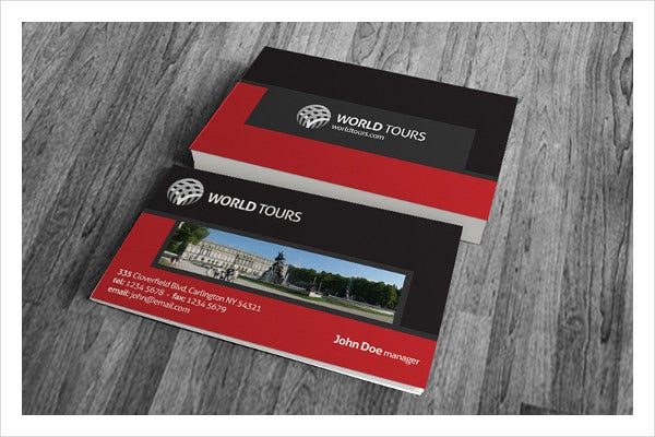 -Travel Themed Business Card